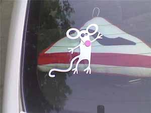 Женские наклейки на машину