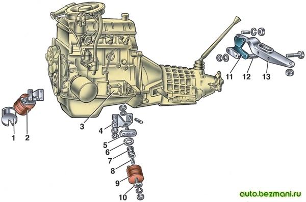 Подвеска двигателя 2101