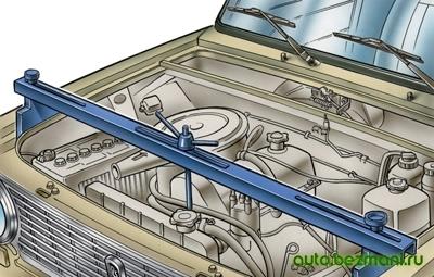 Поддерживание двигателя траверсой