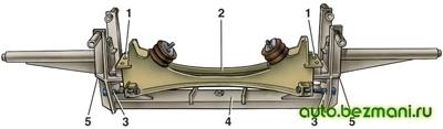 Проверка поперечины передней подвески