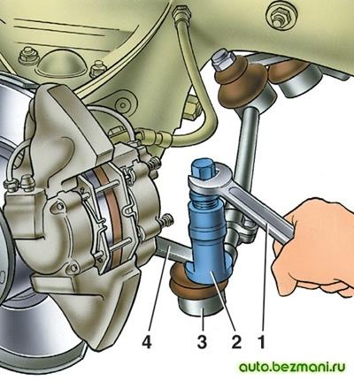 Снятие шаровых пальцев тяг рулевой трапеции
