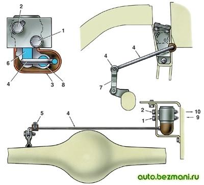 Схема установки регулятора давления задних тормозов и его регулировки