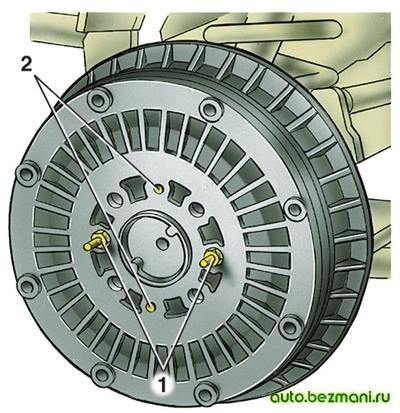 Снятие тормозного барабана ВАЗ-2101
