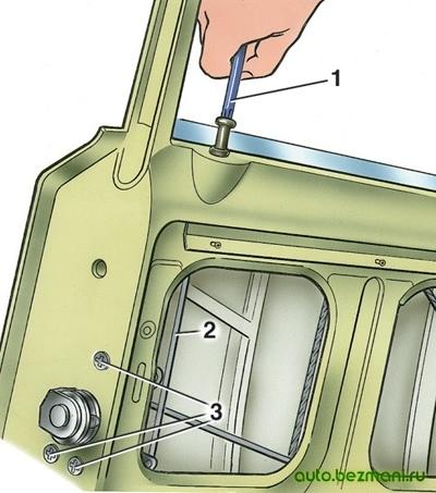 Снятие замка двери ВАЗ-2101