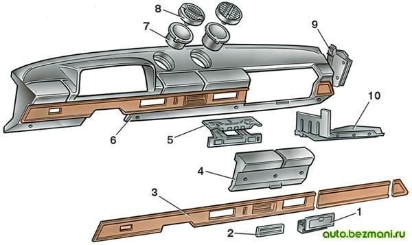 Панель приборов ВАЗ-2101 и её принадлежности