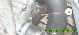 Натяжение ремня генератора ВАЗ с помощью монтажной лопатки