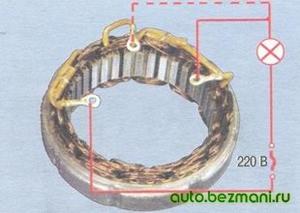 Проверка статора генератора ВАЗ