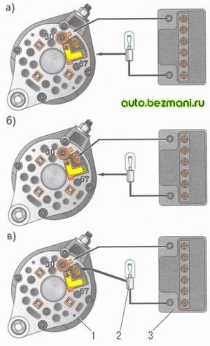 Схемы проверки диодного моста генератора ВАЗ