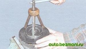 Спрессовка шкива с вала ротора генератора
