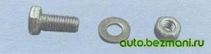 Подборка болта для изменения способа крепления теплоизоляционного щитка