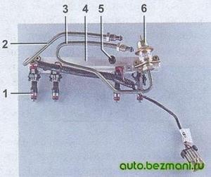 Топливная рампа ВАЗ-2104, ВАЗ 2105, ВАЗ 2107