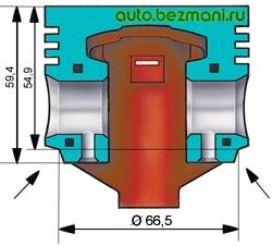 Схема удаления металла с поршня для подгонки его массы