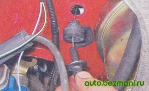 Снятие троса газа