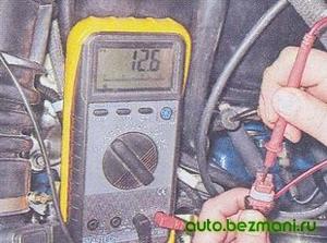 Измерение напряжения на колодке адсорбера