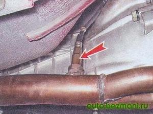 Расположение датчика концентрации кислорода на автомобиле ваз