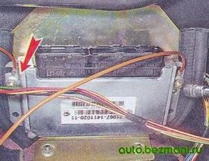 Снятие блока управления ВАЗ-2104, ВАЗ-2105, ВАЗ-2107