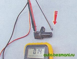 Проверка датчика положения коленвала ВАЗ-2104, ВАЗ-2105, ВАЗ-2107