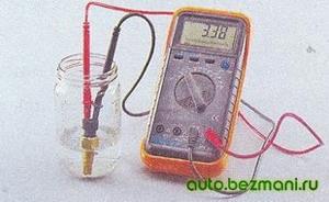Измерение сопротивления охлаждающей жидкости