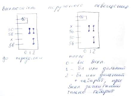 схема автоматического включения фар для низкой и высокой панели ваз 2108