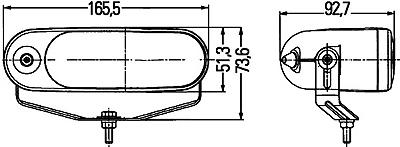 светодиодные ходовые огни hella 008 габаритные размеры