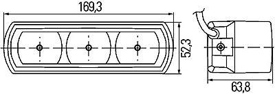светодиодные ходовые огни hella 009 габаритные размеры