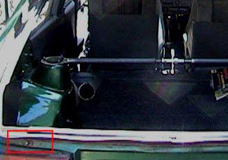 расположение концевика багажника выше заднего фонаря