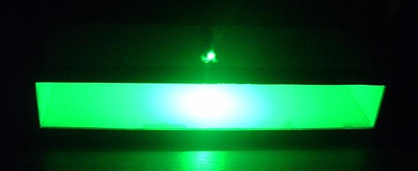 Работа подсветки полки ночью
