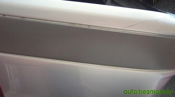 Трещина в бампере ВАЗ-2114