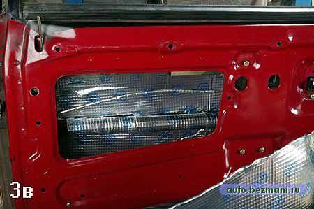 шумоизоляция внутренней части двери ВАЗ-2108