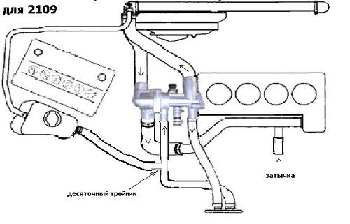 Схема подключения термостата 21082