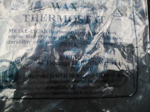 Упаковка Польского термостата