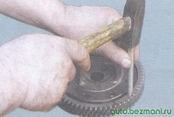 спрессовка ведомой шестерни с корпуса дифференциала