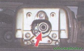 метка положения рулевого колеса относительно рулевого вала