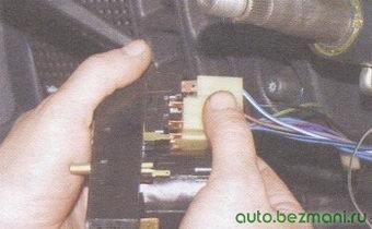 разъем переключателя указателей поворота и света фар