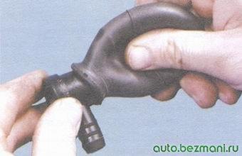 проверка обратного клапана вакуумного усилителя
