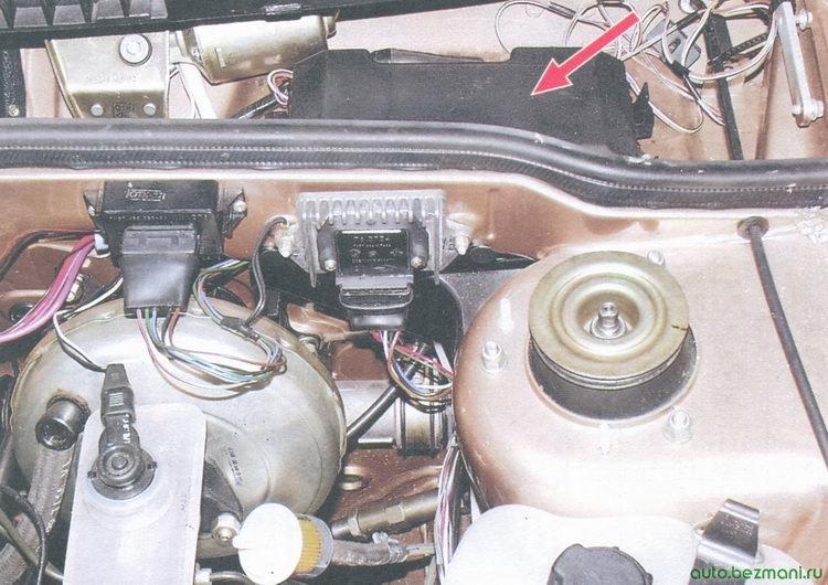 расположение монтажного блока на автомобиле ваз 2108, ваз 2109, ваз 21099