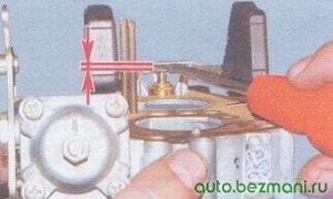 регулировка уровеня бензина в карбюраторе ваз 2108, ваз 2109, ваз 21099