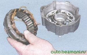 статор генератора - крышка генератора