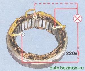 проверка обмотки статора на обрыв