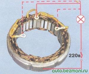 проверка обмотки статора на замыкание