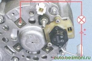 проверка отрицательных диодов генератора
