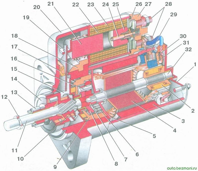 стартер 5712.3708 - автомобили ваз 2108, ваз 2109, ваз 21099
