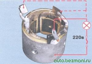 проверка обмотки статора стартера