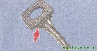 ключ замков дверей и багажника