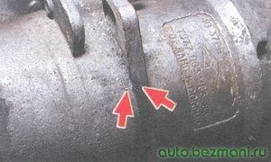 метки на корпусах распределителя зажигания (трамблера)
