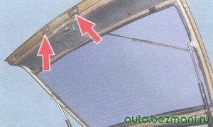 места расположения фонарей освещения номерного знака на автомобиле ваз 2108, ваз 2109