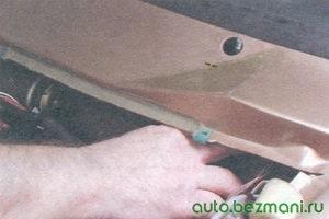 валики механизма стеклоочистителя