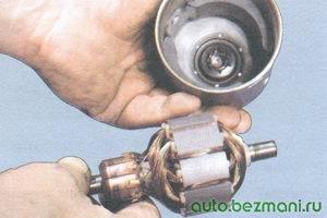 якорь двигателя стеклоочистителя - корпус двигателя стеклоочистителя