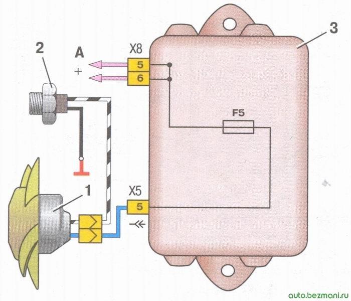 Ваз 2105 инжектор схема включения вентилятора охлаждения