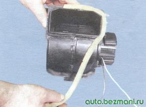 электродвигатель отопителя салона